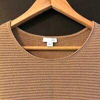 J. JILL Womens Cotton Blend Long Sleeve Camel Pullover Sweater sz S Small