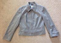 Women's Talbots Gray Wool Blend Lined Blazer Jacket-size 6