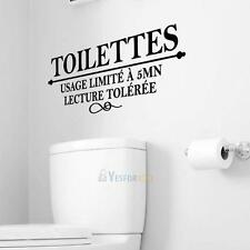 Toilet Wall Sticker Waterproof Removable Vinyl Decal Toilet Door Mural Art Decor
