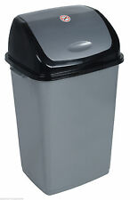 13 Gallon Trash Can (Grey and Black) -316 (Superior Performance)