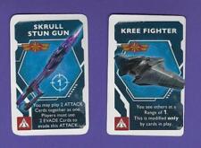 Captain Marvel Secret Skrulls Kree Fighter & Skrull Stun Gun Promo Cards In Hand