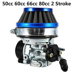 Racing Motorized Bike Carb Filter Carburetor 50cc 60cc 66cc 80cc 2 Stroke Carb