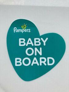 Pampers Baby On Board Car Window Sticker