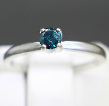 18cts 3.66mm fantasía azul oscuro color ANILLO CON DIAMANTE Value Size 5.5