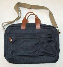 J. Crew Blue Nylon & Leather Laptop Bag