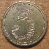 Germany Notgeld (Token) Bielefeld 5 pfennig 1920 Rare!