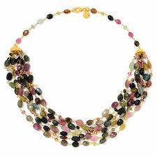 "Victoria Wieck Collection 36"" Multi Tourmaline & Multi Gemstone Beaded Necklace"