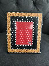 New! Mary Engelbreit Black Floral Border Picture Frame 3x5 Opening