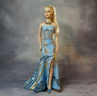 "Gold & Blue Sequin Embroidered Ball Gown16"" Fashion Dolls Tonner JAMIEshow Ficon"