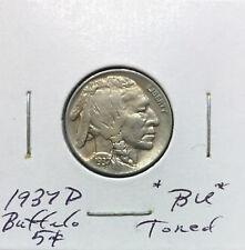 1937 D Buffalo Nickel ~ *BU* ~ Bold Toned Original Details