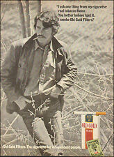 1971 Vintage ad for Old Gold Filter Cigarettes`Sexy Man Jeans (092515)