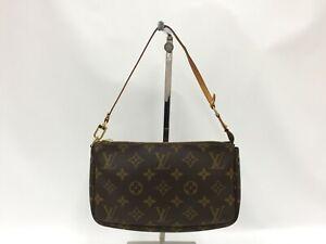 """Auth Louis Vuitton Monogram Pochette Accessoires Pouch bag 1D280040n"""""""