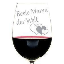 Rotweinglas Weinglas Glas mit Gravur Beste(r) Mama Papa Oma Opa Nachtmann 420ml