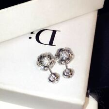 18K Gold Plated Crystal Earrings made with Swarovski Elements WHITE CLEAR