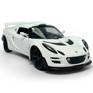 1:26 Lotus Cars Exige Scura Model Car Diecast Toy Vehicle Kids Pull Back White