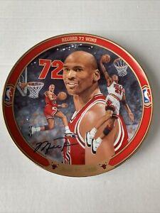 Vintage 1996 NBA Michael Jordan Record 72 Wins Plate Upper Deck #10021E Bulls