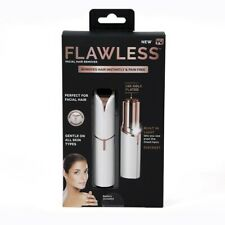 FLAWLESS Electric FACIAL NECK CHIN UPPER LIP Hair Remover LED Light *NEW* WHITE