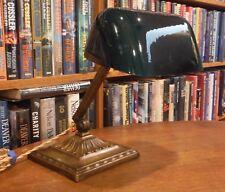 Antique Emeralite Desk Lamp Green Cased Shade #8734