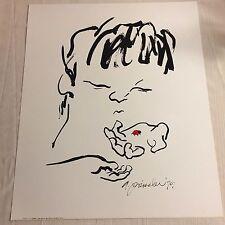 "Audrey Preissler ""Boy"" & Ladybug - Dargis Assoc. Inc. 1980 Art Print/Poster NOS"