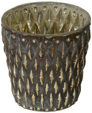 Rustic Tarnished Gold Shabby Chic Candle Tealight Holder
