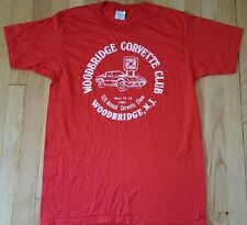 Vintage CORVETTE shirt 1982 CHEVY L car red Screen Stars 80s hot rod drag racing