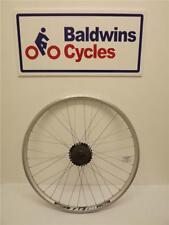 """26"""" REAR DISC BRAKE Q/RELEASE Bike Wheel D/WALL SILVER + 6 Speed Freewheel"""