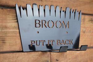 Broom Holder Metal Broom tidy Stable Workshop broom hook