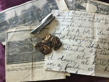 More details for ww1 l32 zeppelin fragments billericay with letter ultra rare canvas