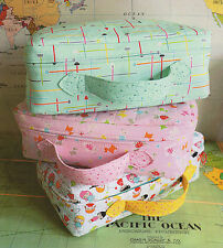 Small World Suitcase - Sewing Craft PATTERN - Childrens Bag Storage