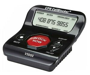CPR V5000 Bloqueador de Llamadas de Teléfono Fijo - Bloquear 5000+ Spam Números