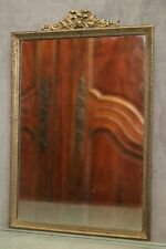 Miroir cadre bronze 19e Louis 16