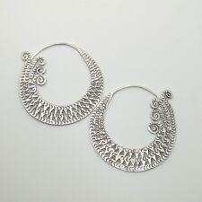 Fine Silver Sterling 925 Earrings Hoop Styles Vintage Luxury Elegant Fashions