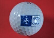 Pelota de golf con logo-otan-emblema-presionaron - golf logotipo Ball-rareza-bolas de logotipo