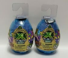 (2) TREASURE X ALIENS OOZE EGGS: SQUEEZE TO HATCH, MYSTERY BLIND BAG, REAL GEMS?