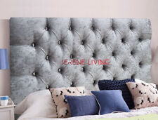 """HEADBOARD CHESTERFIELD CRUSHED VELVET 20"""" BED HEAD - SMALL DOUBLE KING SUPERKING"""