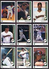 1989 Upper Deck San Diego Padres Team Set (33 cards) Gwynn,Alomar