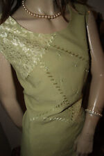 Exquisite Bluse*Hemdchen*Top hellgrün bestickt Perlen Spitze edel  nw 44