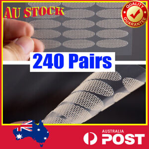 240 Pairs Invisible Lace Double Eyelid Stickers Tape Cosmetic Makeup Tool AU EYE