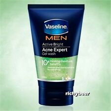 1x100 g. Vaseline Men ACNE EXPERT GEL Face Wash Foam Active Bright Moistur Jelly