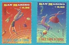 San Marino aus 2002 ** postfrisch MiNr.2018-2019 - Europa: Zirkus!   TOP!!!