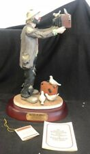 Signed Flambro Emmett Kelly Figure Watch the Birdie