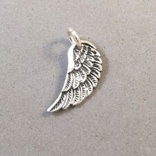 .925 Sterling Silver WING CHARM NEW Bird Angel Feathers Pendant 925 BI03
