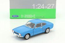 1969 Ford Capri Mk1 in Blue 1/24 Scale Model by Welly