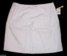 ORIGINAL PENGUIN White w/ Lt Green Beige Cream Plaid COTTON SKIRT ~ $169 NWT 10