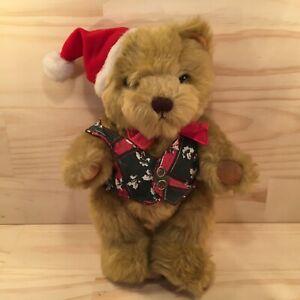 """TEDDY BEAR """"Brown"""" Beautiful Furry Christmas Teddy Plush Festive Soft Toy (Avon)"""