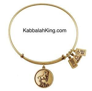 Wind & Fire Zodiac Aries Charm Gold Expandable Bangle Bracelet Made In USA