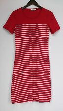 Crew Neck Short Sleeve Striped Maxi Dresses for Women