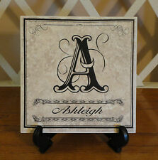 Personalized FAMILY, WEDDING, NEW HOME Tile. Monogram