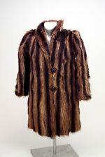 Racoon Fur Coat Vintage Ladies Kaplan of Buffalo Original owners BROWN Excellent