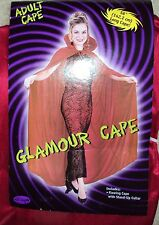 """Halloween Costume Red High Neck Glamour Vampire Cape 56"""" One Size"""